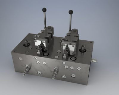 Double Hydraulic Control Block For Hatch Covers